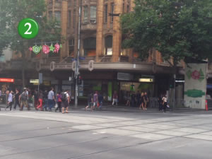 Turn right onto Swanston
